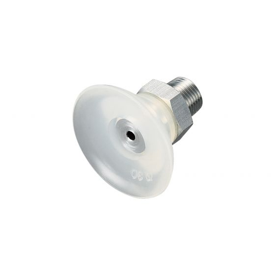 Flat Suction Cup (Silicon/Cloudy Transp) 30mm